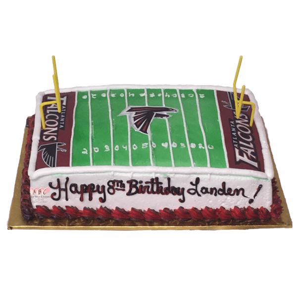1820 Falcon Football Birthday Cake Abc Cake Shop Bakery