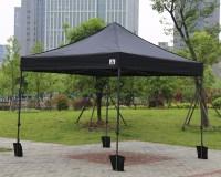 Black 3m x 3m Ez Pop up Canopy Instant Shelter Outdor ...