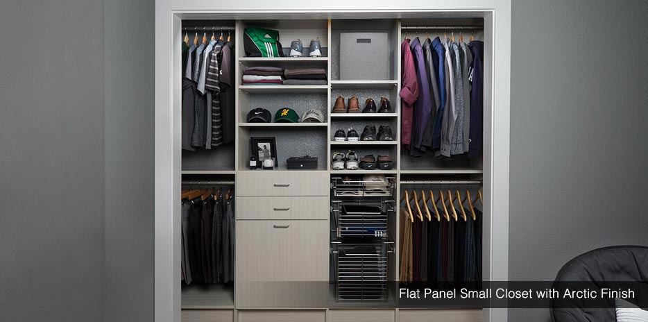 Small Closet Design  Storage  Reachin Closet Solutions