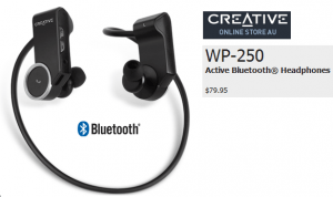 Creative WP-250 Wireless Bluetooth Headphones with Invisible Mic