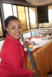 Agnes at hotel
