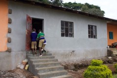 entering their new library at Kitowo/Napaku PS