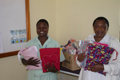 eva and sophie with personal care kits