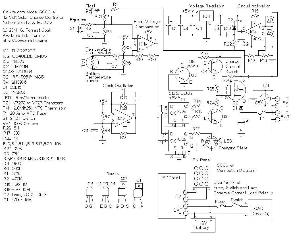 12v Solar Charge Controller Wiring Diagram