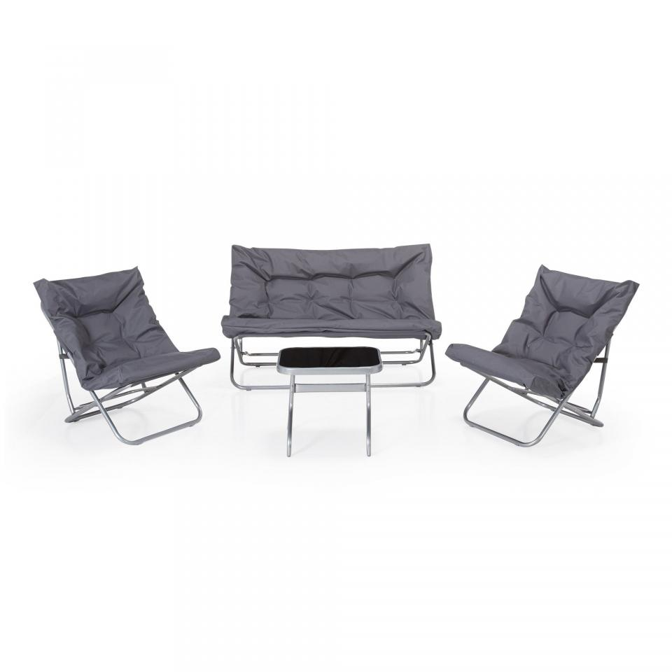 Salon de jardin alinea linkedin with salon de jardin - Salon de jardin allibert new york gris anthracite ...