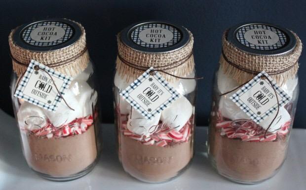 diy hot chocolate jar