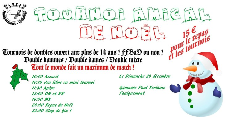 Tournoi Amical de Noël 2019