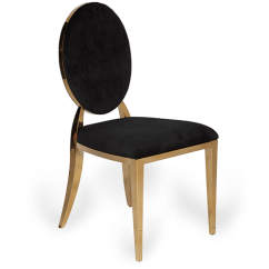 Gold Dining Chairs Foldable Chaise Lounge Party Chair Rentals Abc Fabulous Events Bedford Black Velvet