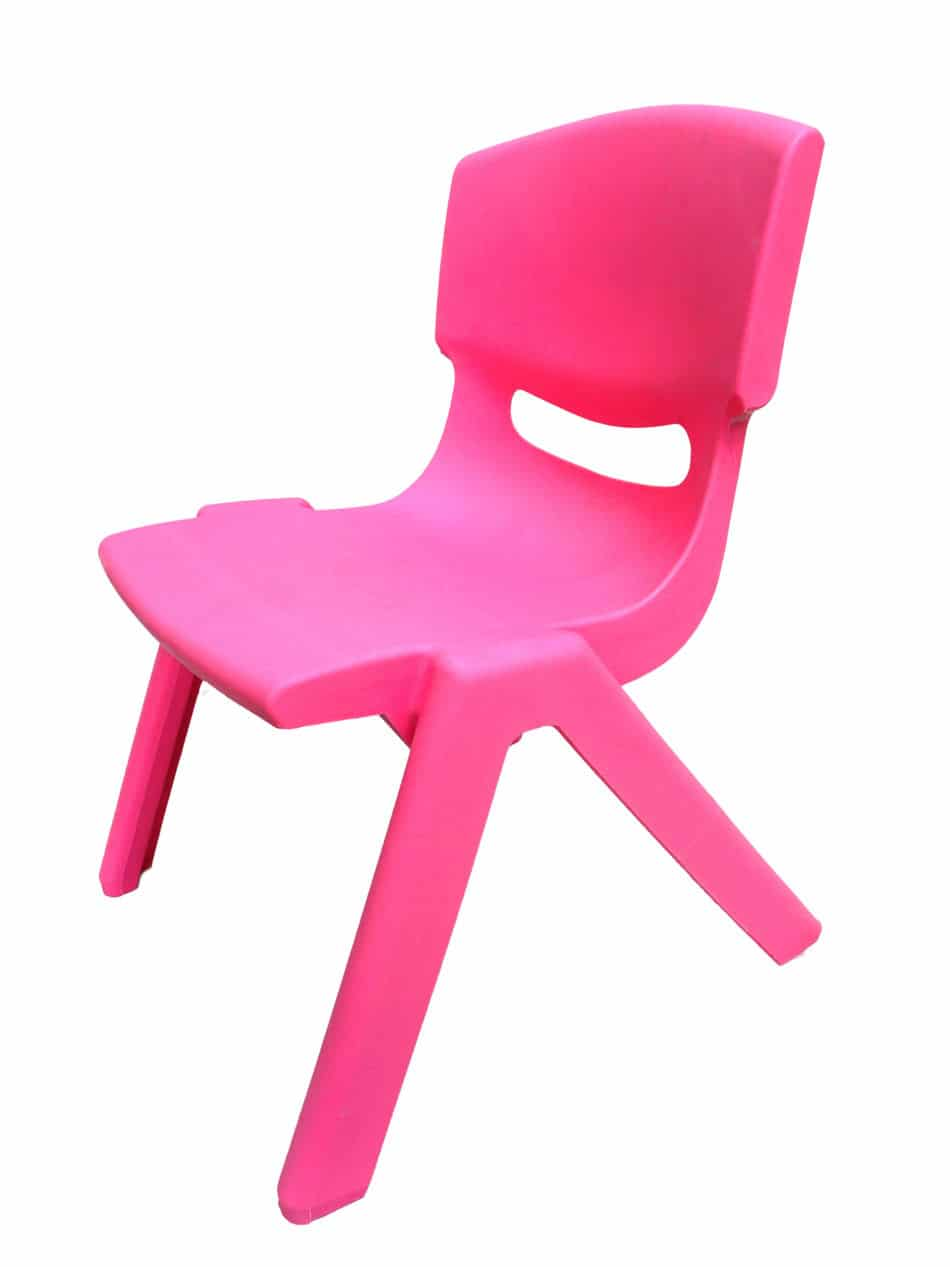 pink kids chair red club and ottoman kid s abc fabulous events party rentals