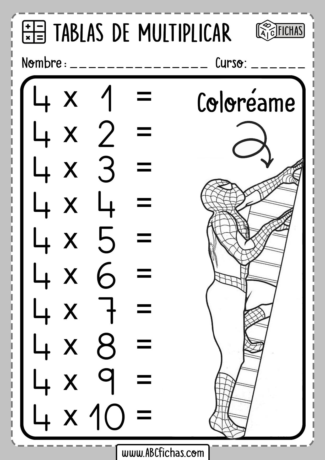 Cuadernillo De Evidencias De Matemáticas 6 . Cuadernillo Tablas de Multiplicar - ABC Fichas