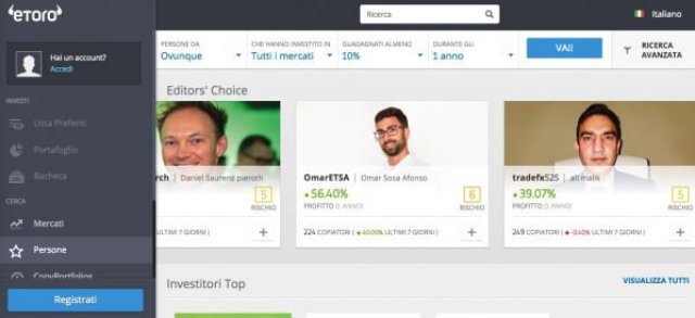 Giocare in Borsa eToro Classifiche