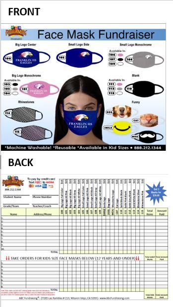 Custom Face Mask Fundraiser Order-Taker Flyer
