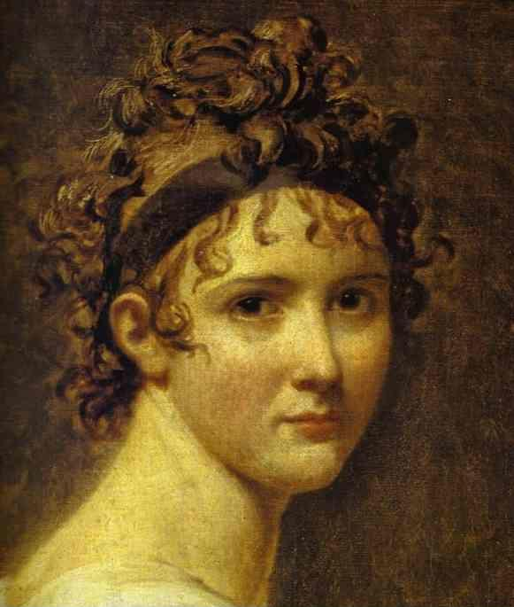 JacquesLouis David Portrait of Mme Rcamier Detail
