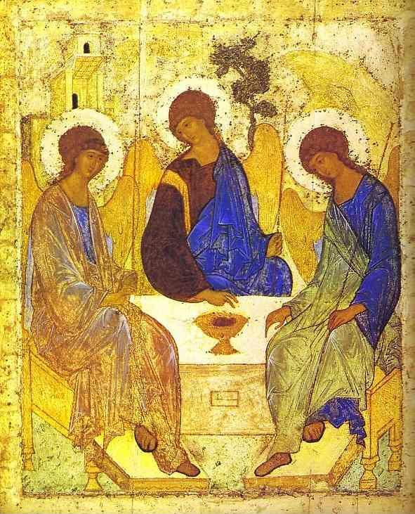 Andrei Rublev. The Old Testament Trinity.
