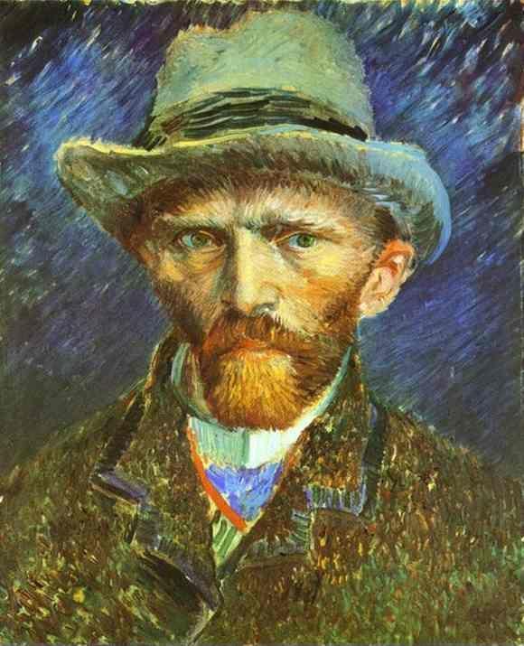 Vincent van Gogh. Self-Portrait in a Grey Felt Hat.