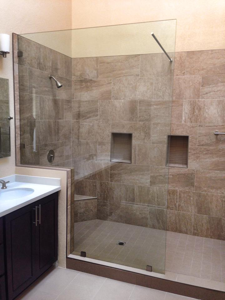 Oak Brook IL Glass  Shower  Custom Cut Shower Doors
