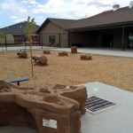 The playground at ABC Great Beginnings Daybreak and Riverton has water fountains, jungle gyms and more.
