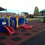 Our toddler play area is cushioned and safe for your kids.