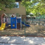 The West Jordan, UT center has two playgrounds for big and little kids.