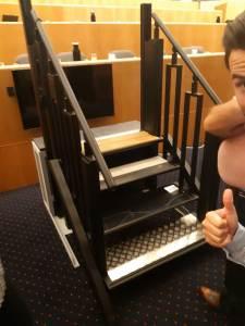 ABC LIFT présente son élévateur pour personne à mobilité réduite au séminaire LIFTUP