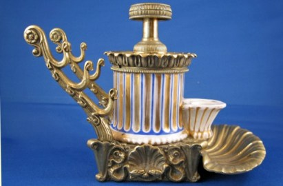 French Hydraulic Inkstand (with Pen Rest)