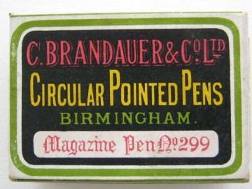 C. Brandauer & Co. Ltd Circular Pointed Pens.  Price £12-00.