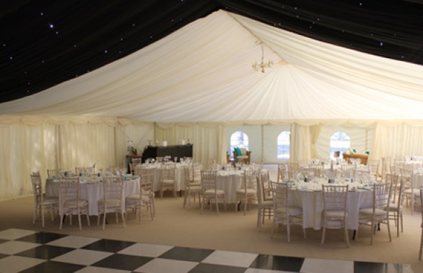 Marquee linings in black & white