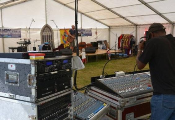 music tent reigate community festival