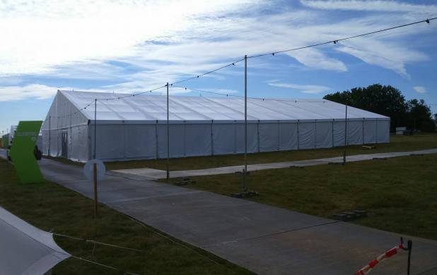 Huge clearspan marquees