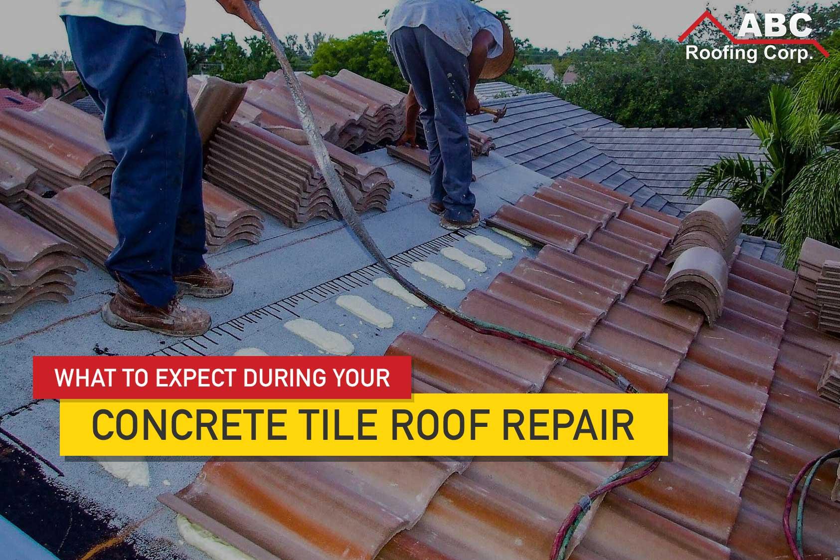 repairing concrete roof tiles