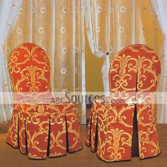 Chair Covers Wholesale China Tuscan Dining Chairs Luxury Red With Yellow Embroidery Decorative Meeting