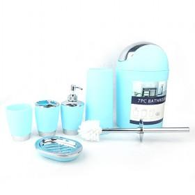 wholesale 6 piece light peacock blue bathroom accessory sets