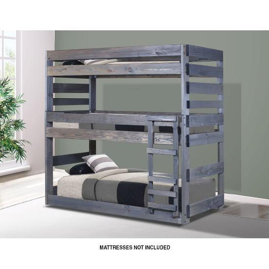 pine crafter furniture triple twin twin twin bunk bed