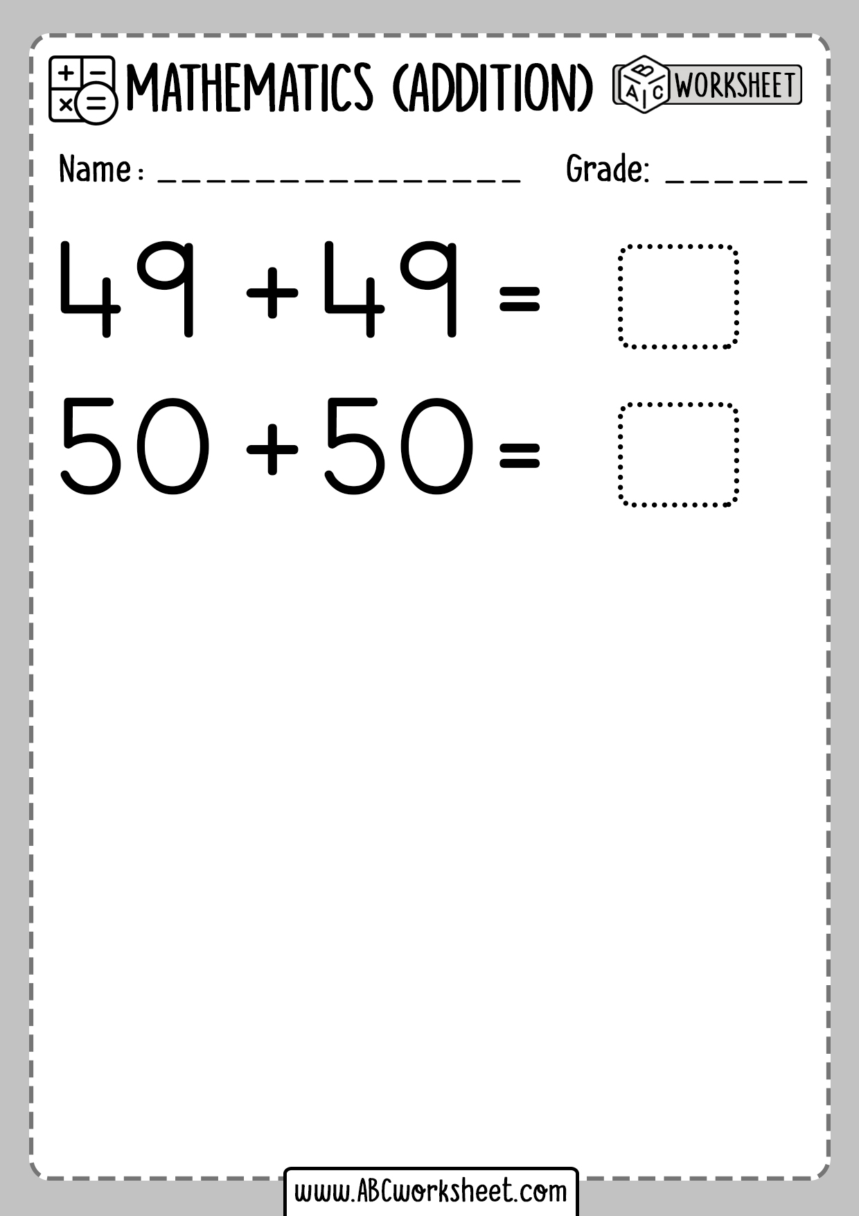 Addition Doubles Worksheet Free Printable