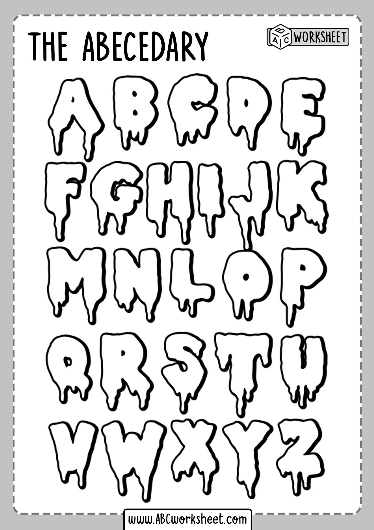 Alphabet Coloring Worksheets