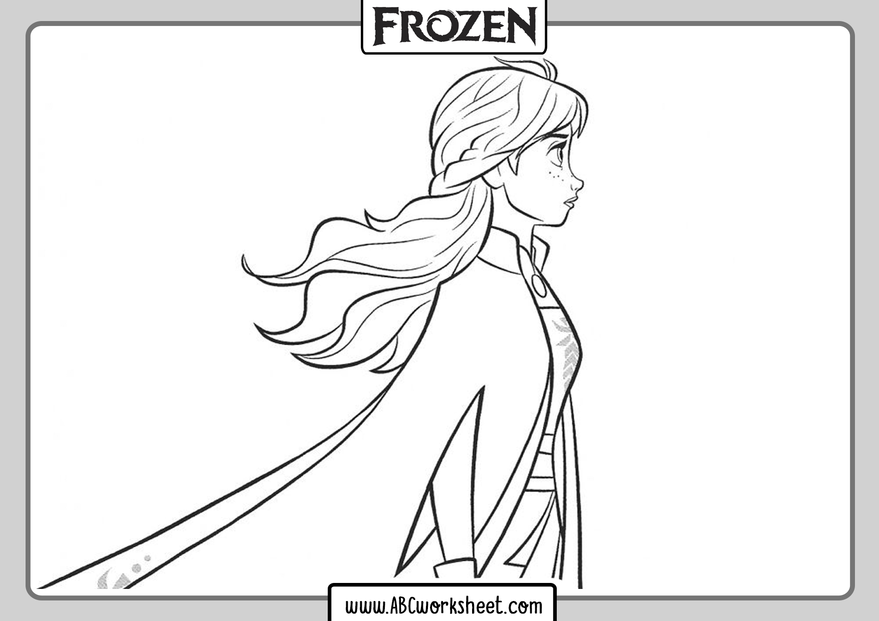 Anna Frozen 2 For Coloring