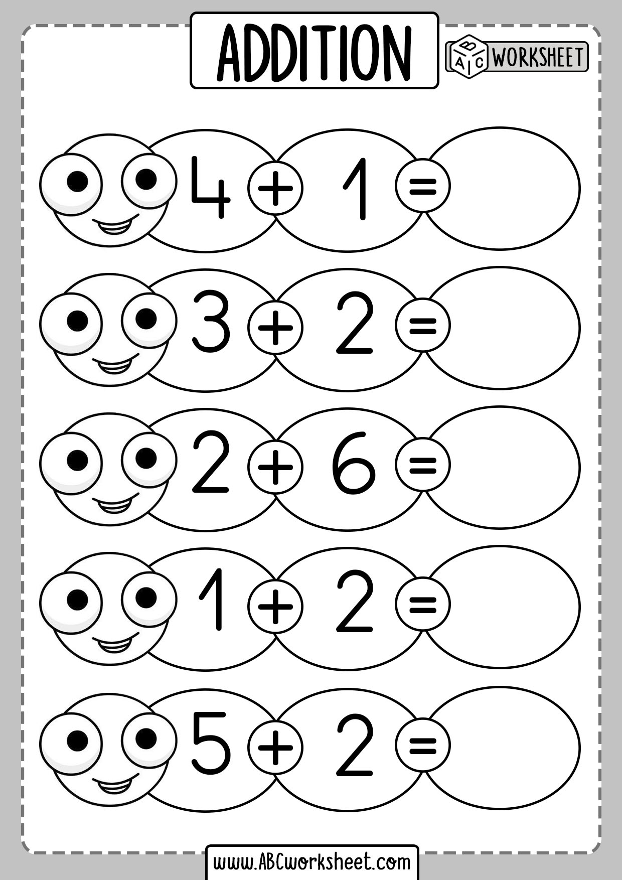 Kindergarten Addition Worksheets Amp Free Printables