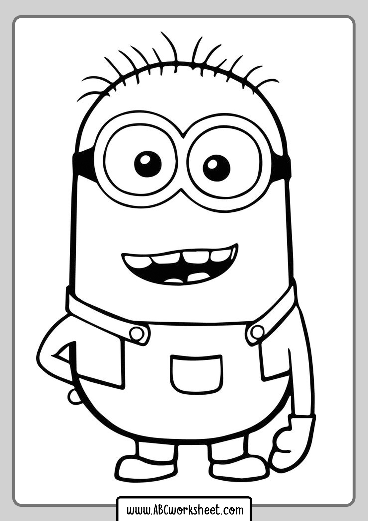 Coloring Minions Coloring Pages For Kids