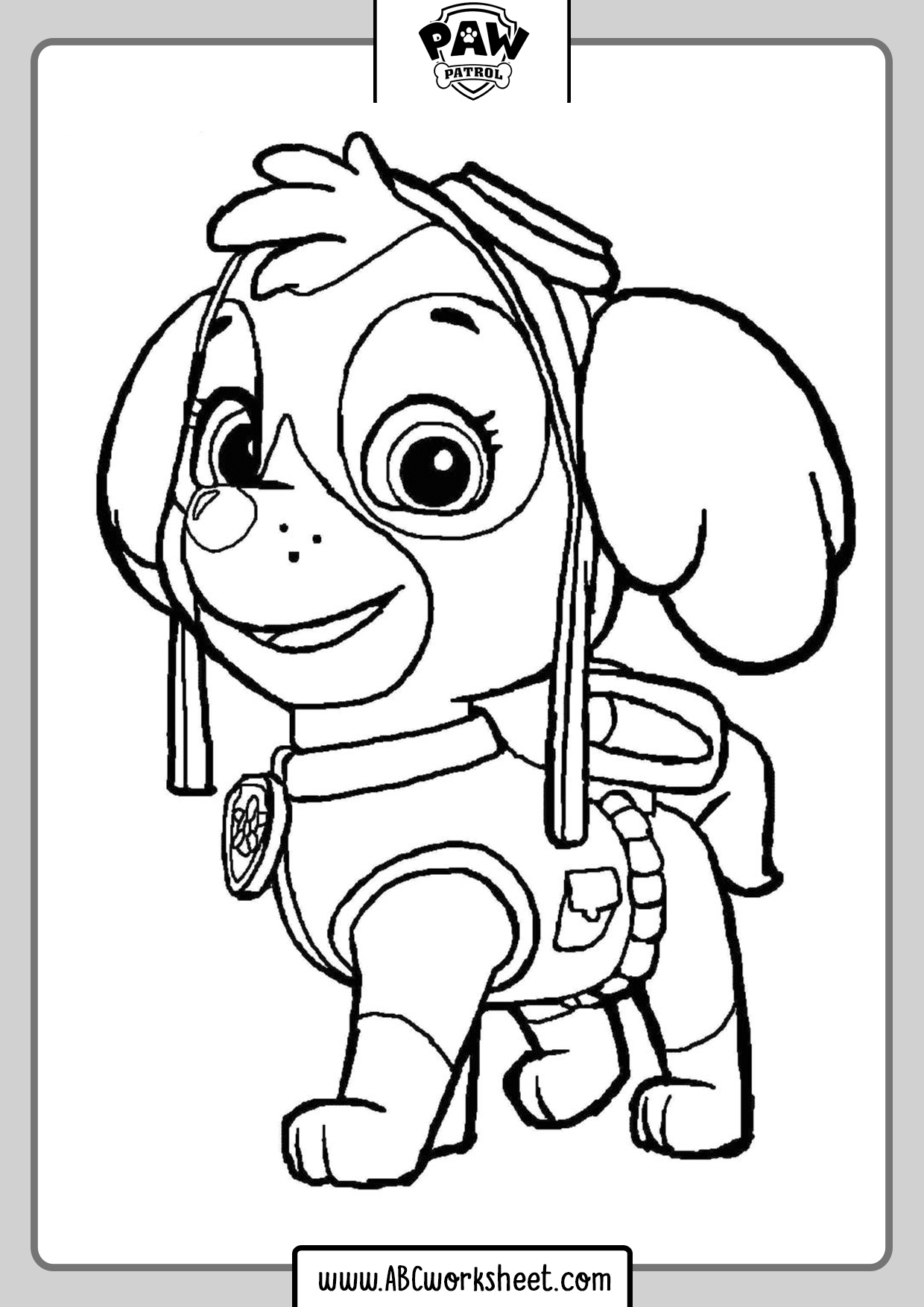 Coloring Pages Paw Patrol