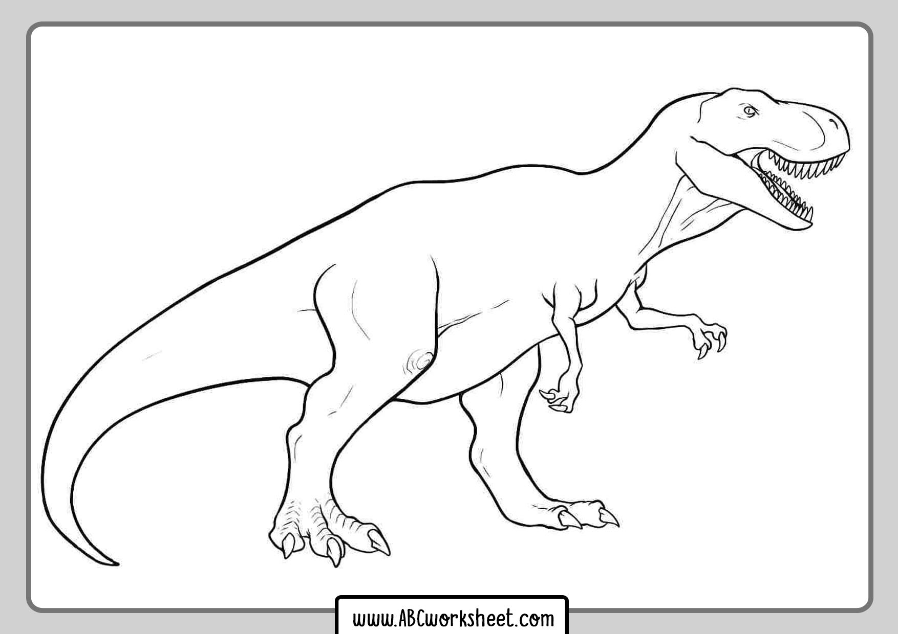 Dinosaur Coloring T Rex