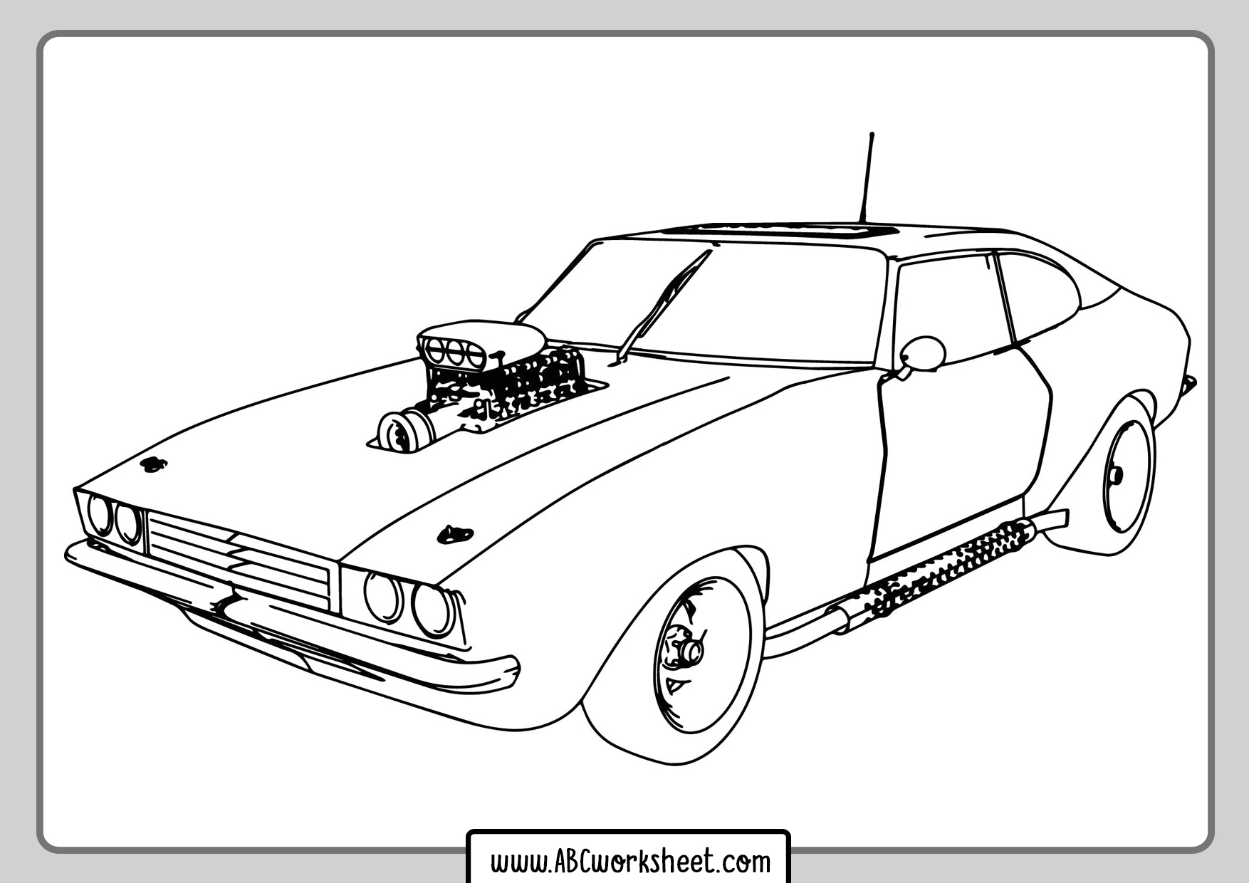 Free Printables Racing Car Coloring Pages