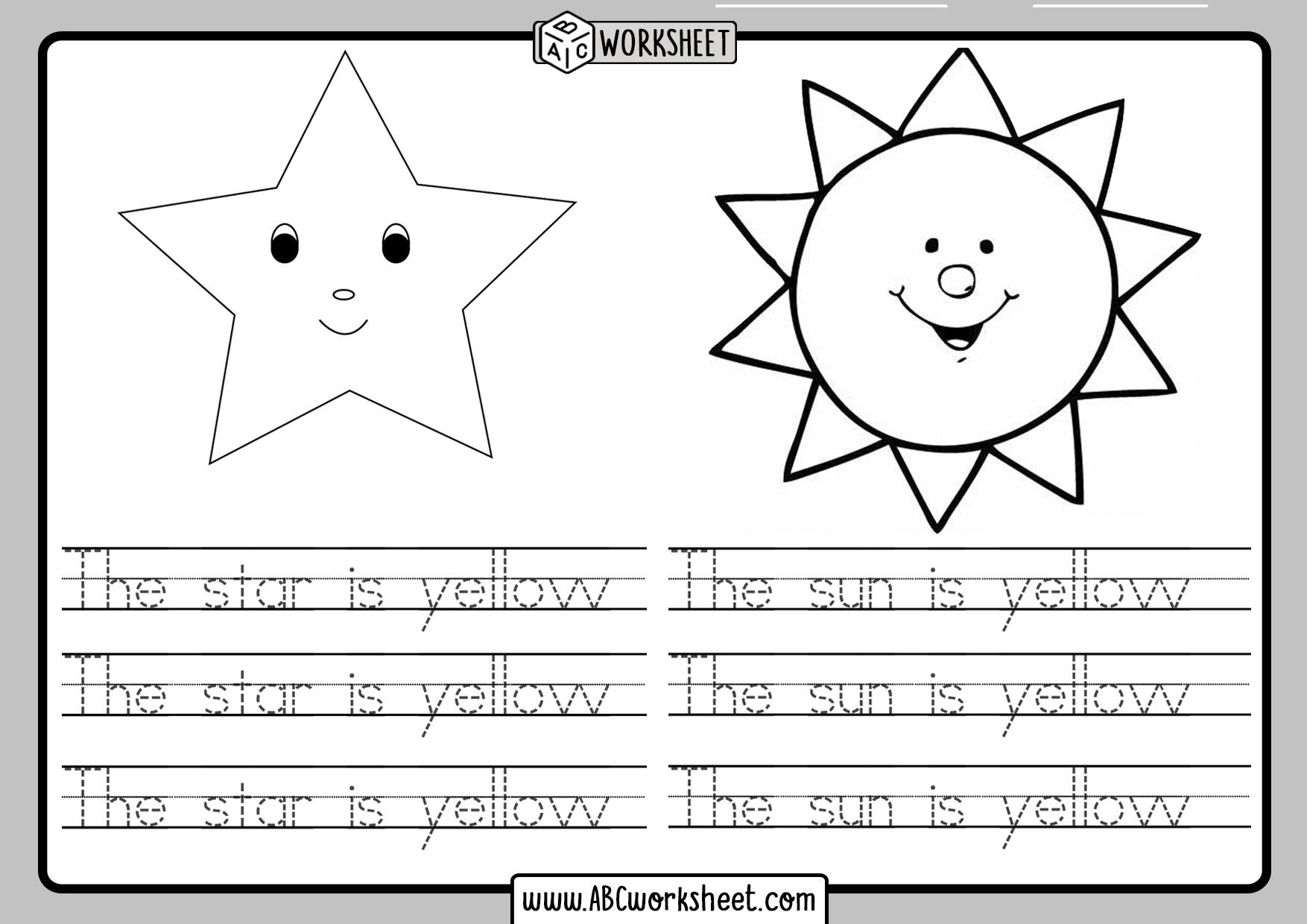 Handwriting Practice Worksheets For Kindergarten