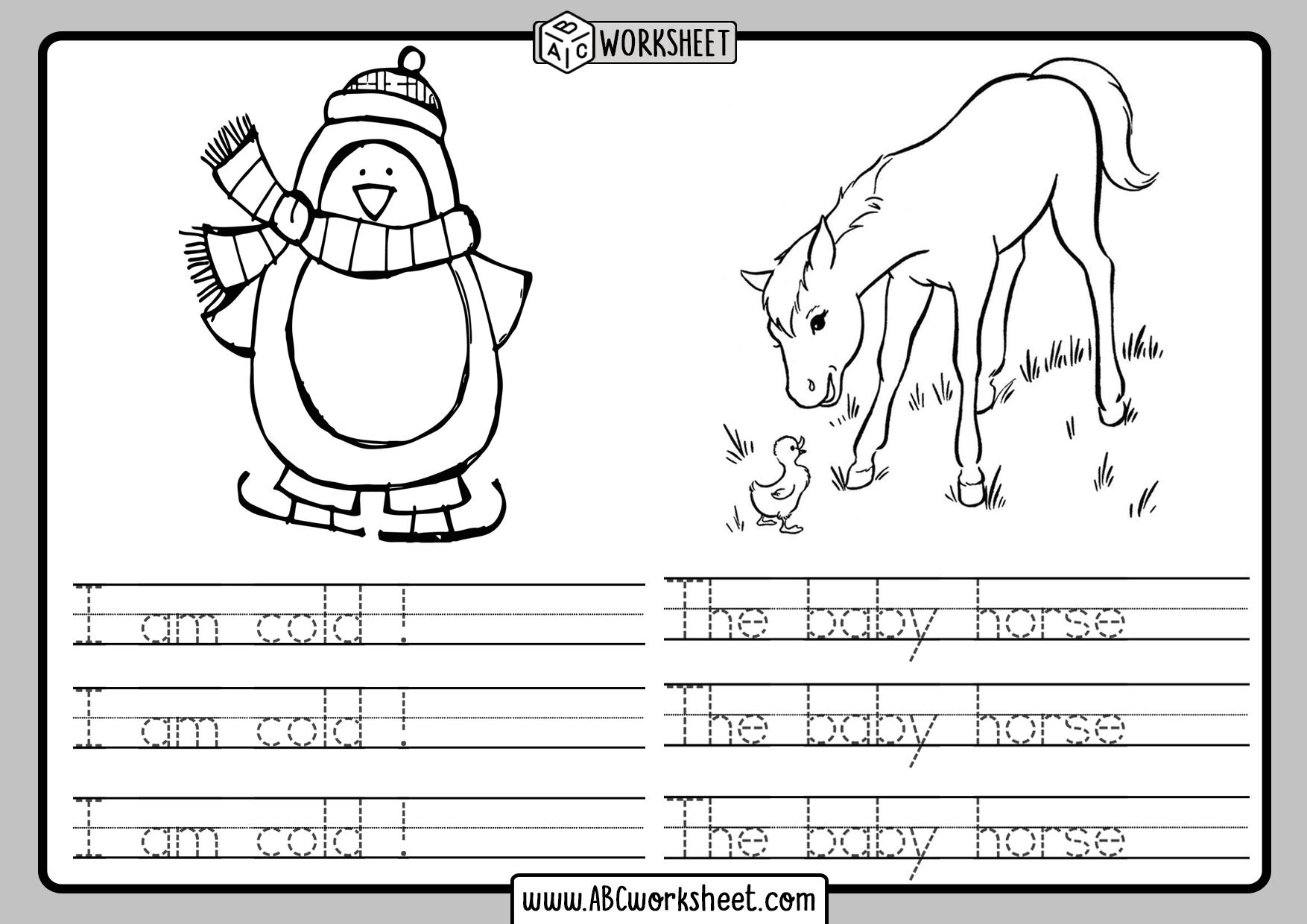 Handwriting Tracing Kindergarten