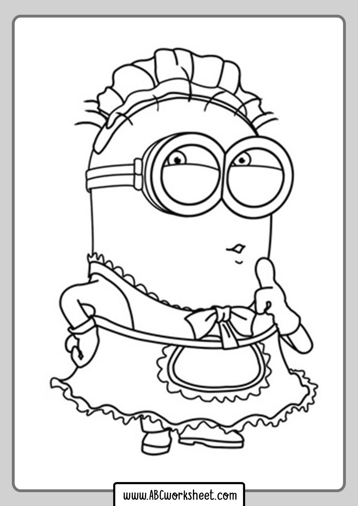 Happy Minions Coloring Page