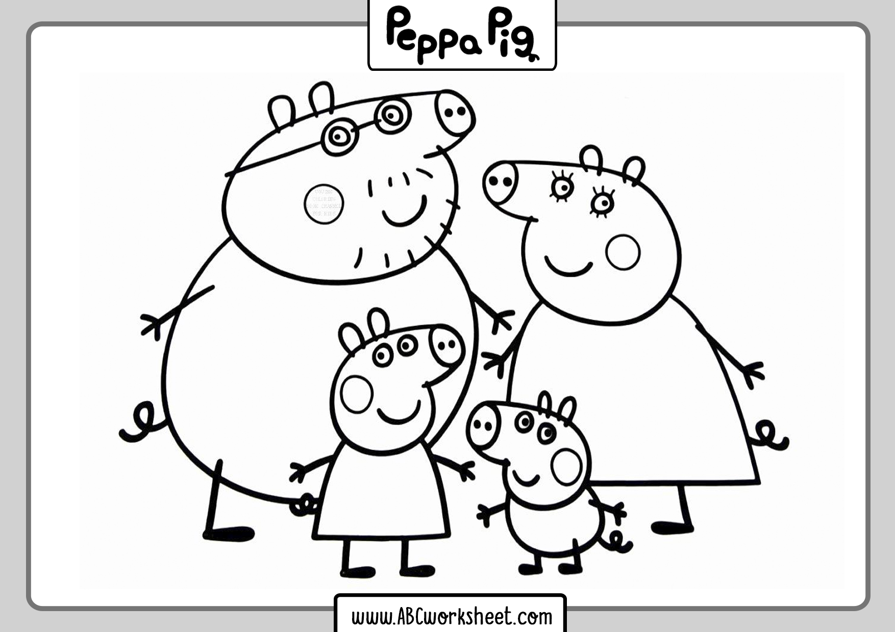 Kids Peppa Pig Coloring Pages