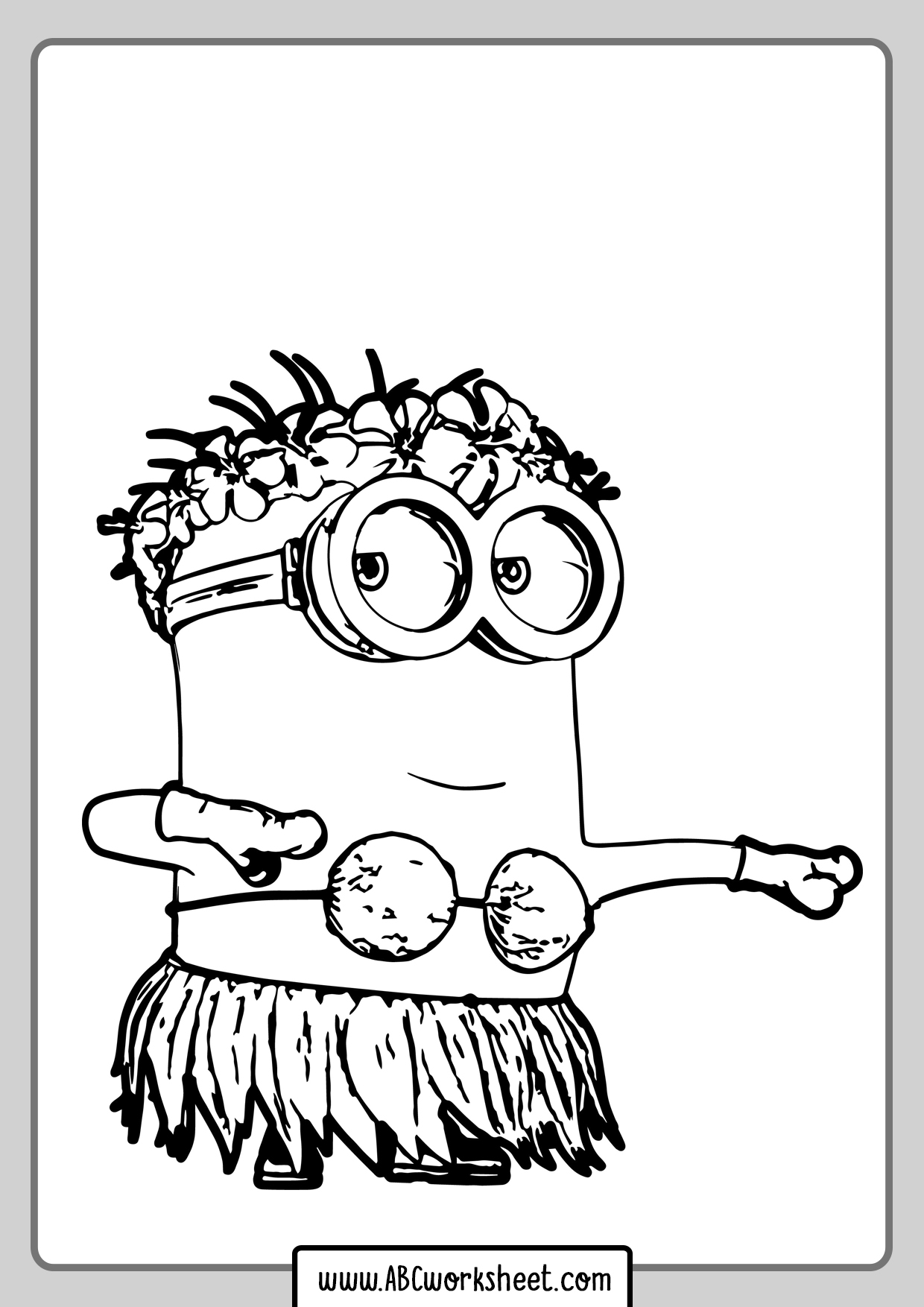 Minion Dancing Coloring Page