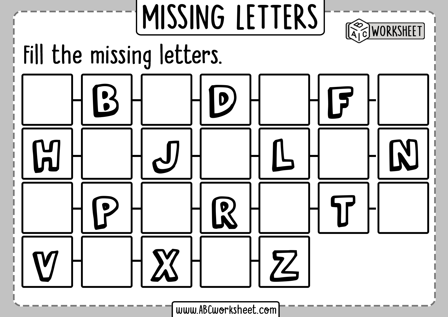 Missing Letters Activities