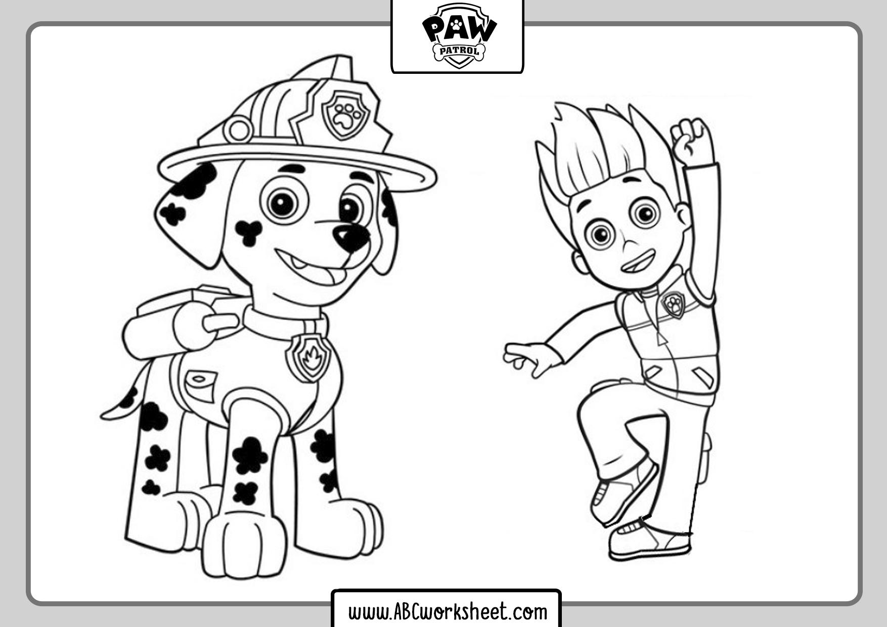 Paw Patrol Coloring Set