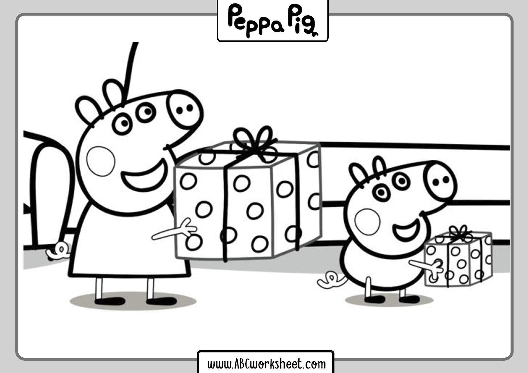 Peppa Pig Coloring Images