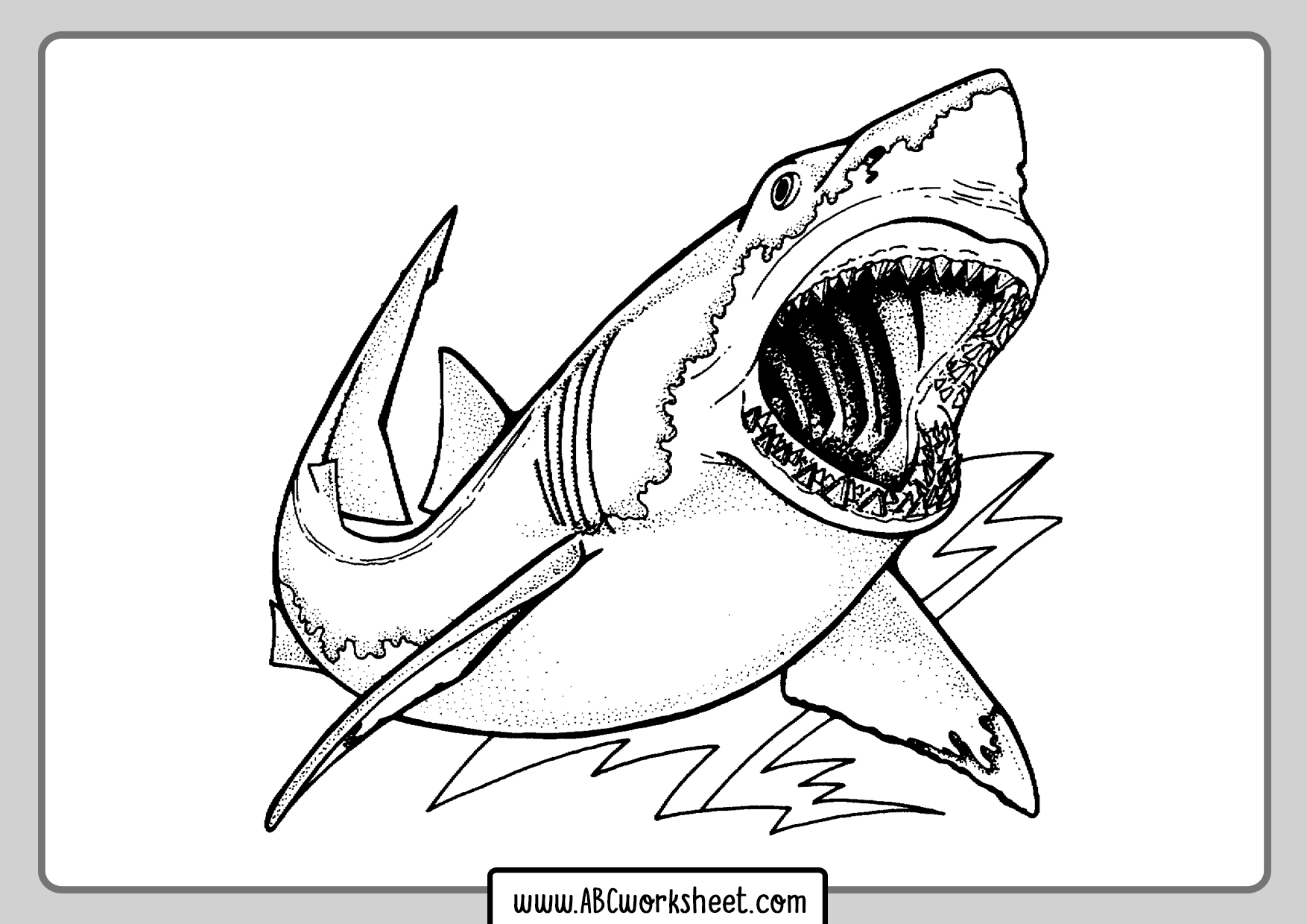 Coloring Page Shark (With images) | Shark coloring pages, Animal ... | 1240x1754